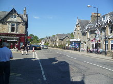 Pitlochry, looking north up the main street, Perthshire © Michael Graham